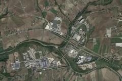 Vista dal satellite della ZI di Ponte valentino